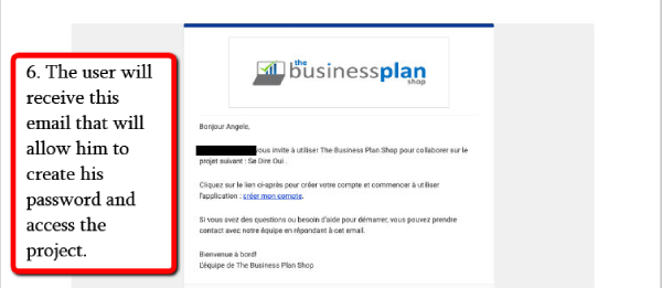 invite user on The Business Plan Shop  - step 4